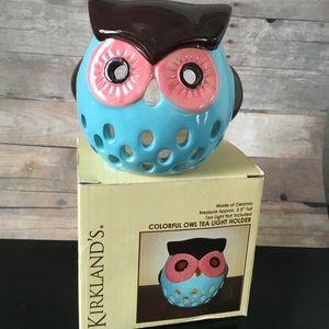 Kirklands owl tea light holder